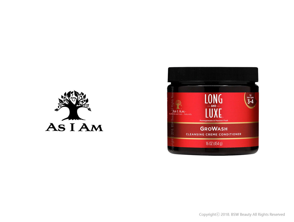 AS I AM LONG AND LUXE GROWASH CLEANSING CREME CONDITIONER 16oz