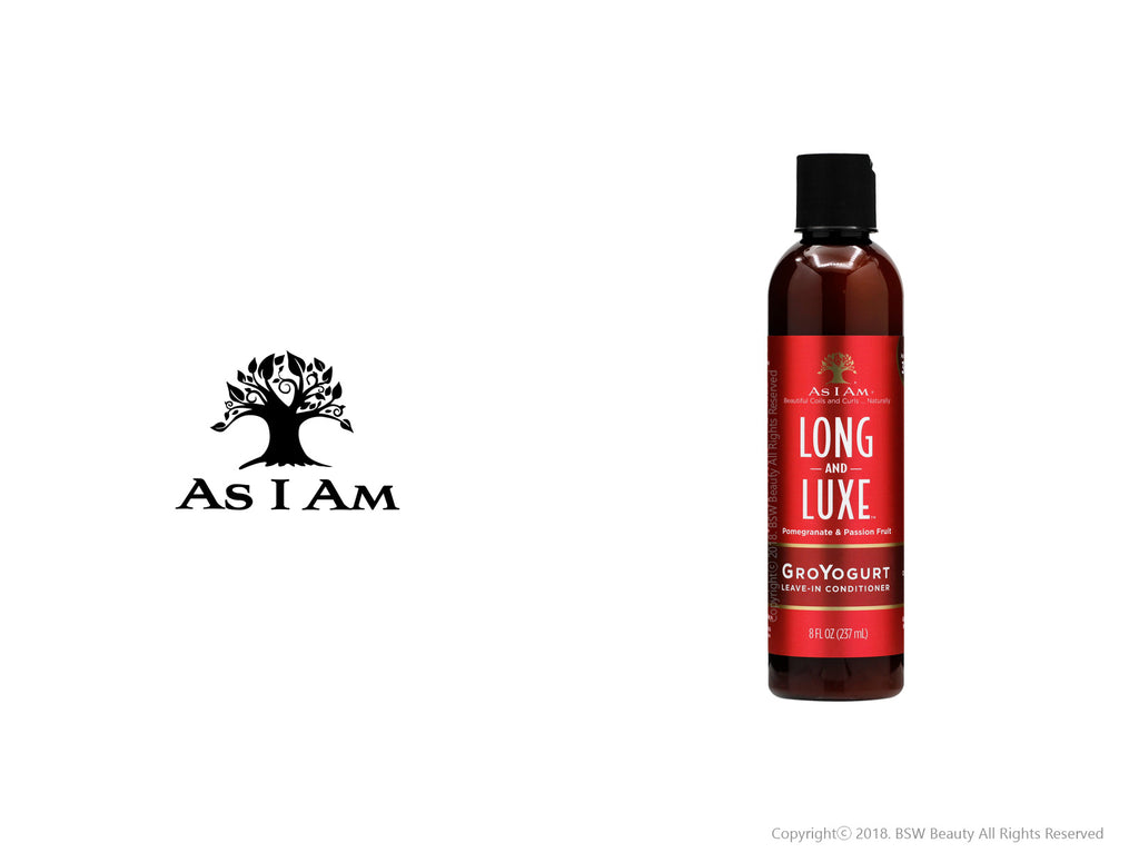 AS I AM LONG AND LUXE GROYOGURT LEAVE - IN CONDITIONER 8oz***