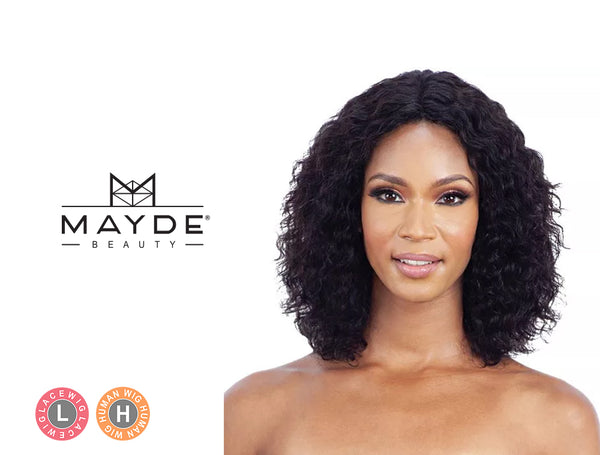 MAYDE BEAUTY 100% HUMAN HAIR WET & WAVY INVISIBLE LACE PART WIG LOOSE DEEP