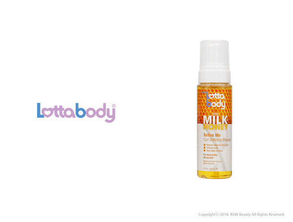 LOTTABODY WITH MILK & HONEY REFINE ME CURL DEFINING MOUSE 7oz
