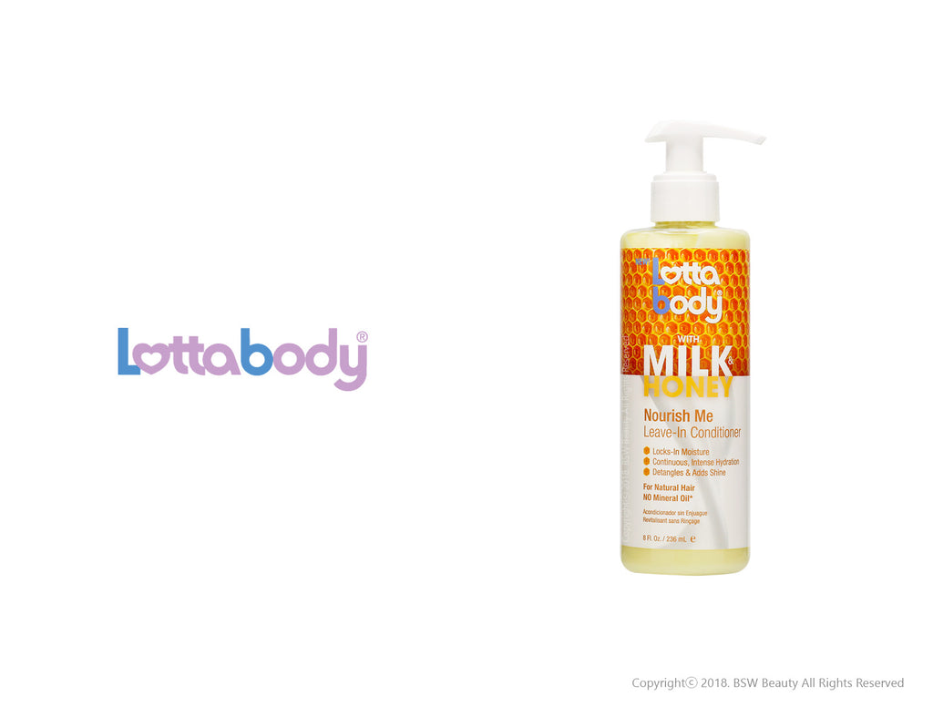 LOTTABODY WITH MILK & HONEY NOURISH ME LEAVE-IN CONDITIONER 8oz