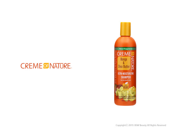 CREME OF NATURE MANGO & SHEA BUTTER ULTRA MOISTURIZING SHAMPOO 12oz