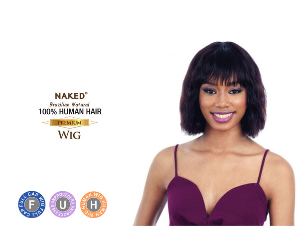 NAKED BRAZILIAN NATURAL 100% HUMAN HAIR WIG MELODY ***