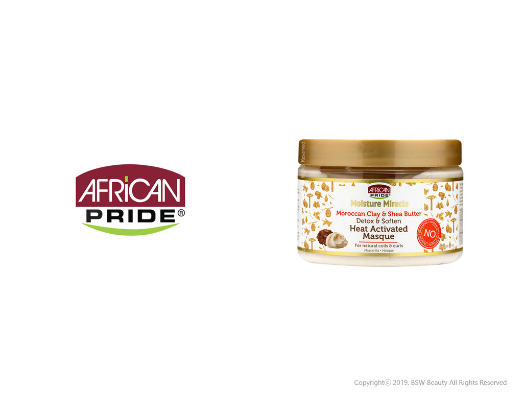 AFRICAN PRIDE MOISTURE MIRACLE DETOX & SOFTEN HEAT ACTIVATED MASQUE 12oz