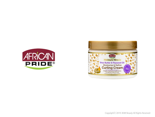 AFRICAN PRIDE MOISTURE MIRACLE MOISTURIZE & DEFINE CURLING CREAM 12oz