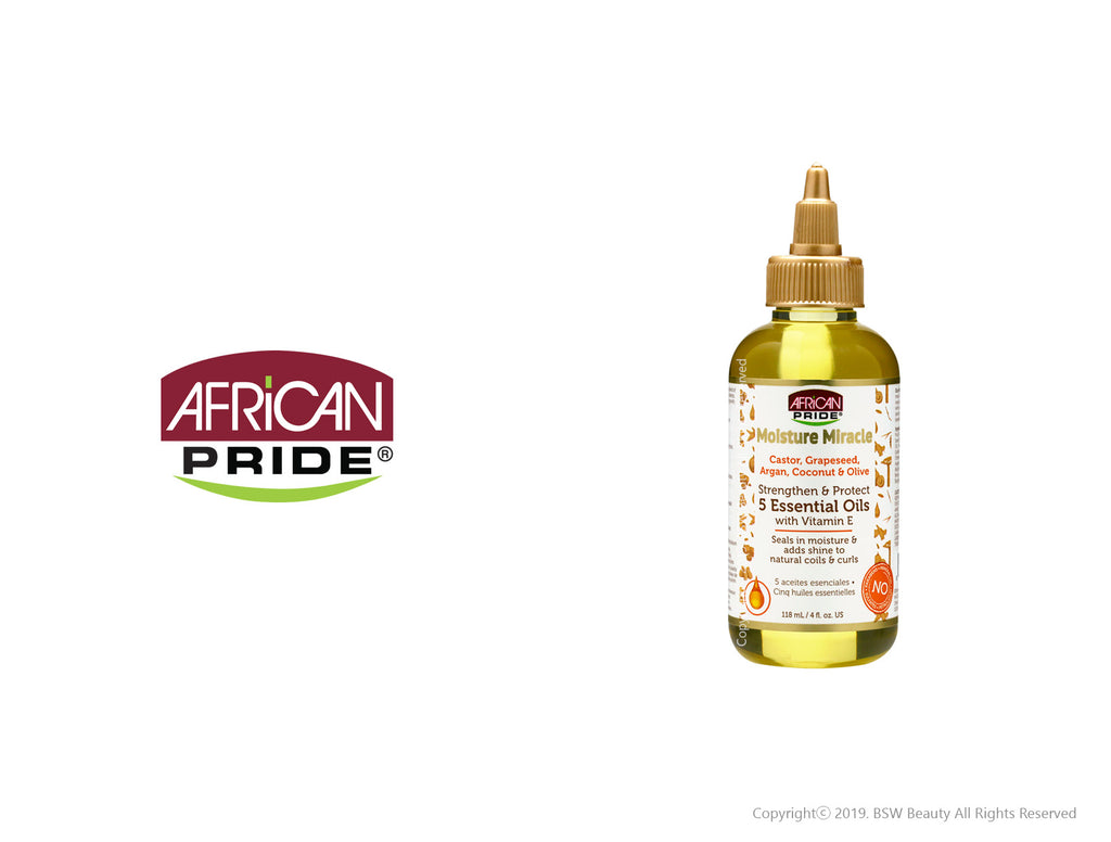 AFRICAN PRIDE MOISTURE MIRACLE STRENGTHEN & PROTECT 5 ESSENTIAL OILS 4oz