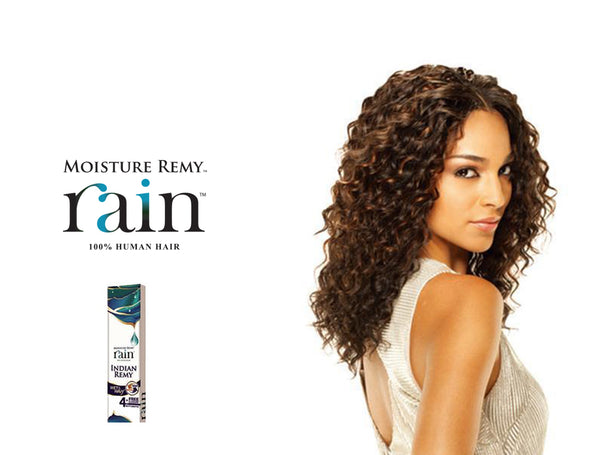 SHAKE N GO INDIAN REMI HUMAN HAIR WEAVE MILKY WAY MOISTURE REMY RAIN WET&WAVY LOOSE DEEP 4PCS