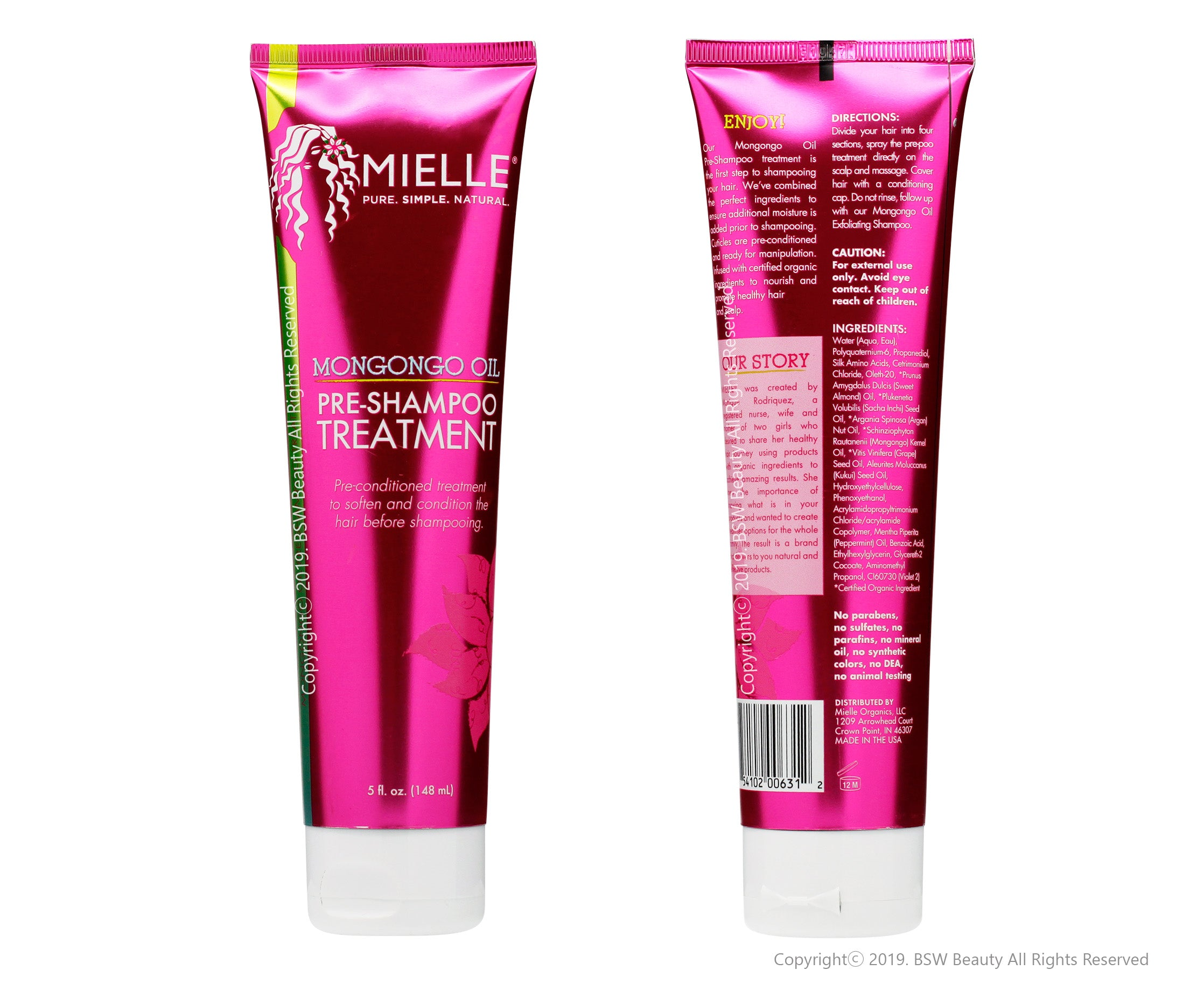 MIELLE ORGANICS MONGONGO OIL PRE SHAMPOO TREATMENT 5oz