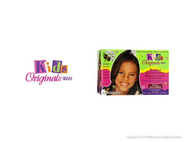 AFRICA'S BEST KIDS ORIGINALS NATURAL CONDITIONING RELAXER SYSTEM KIT - NO-LYE KIDS COARSE