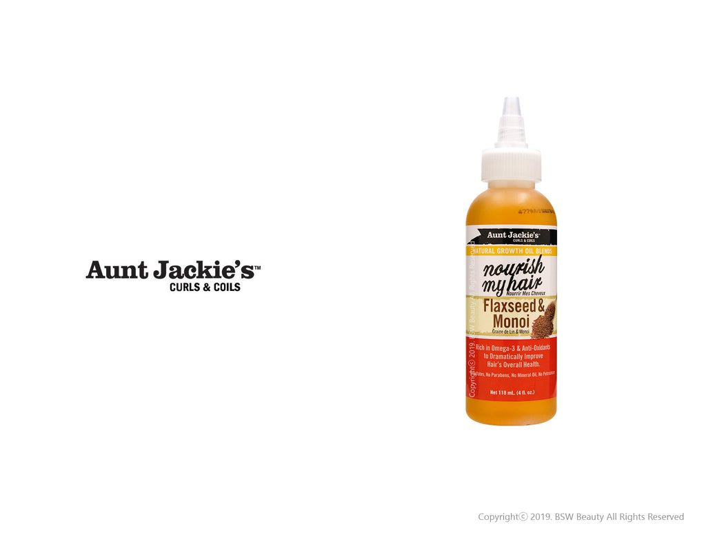 AUNT JACKIES NATURAL GROWTH OIL BLENDS NOURISH MY HAIR FLAXSEED & MONOI 4oz
