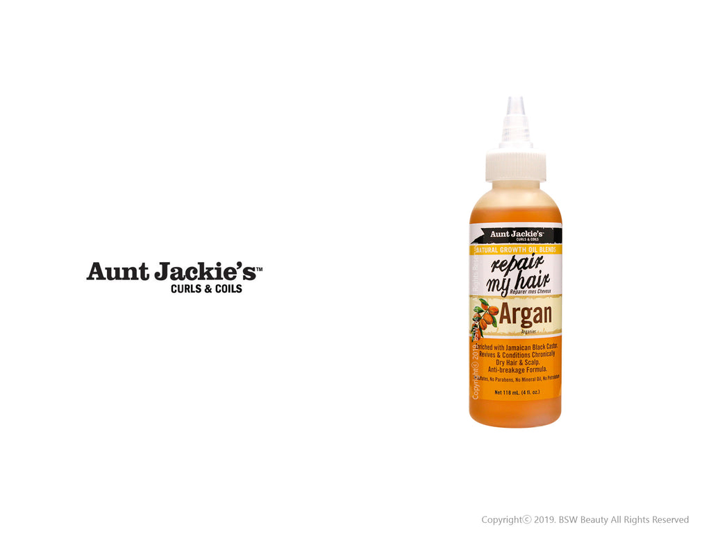 AUNT JACKIES NATURAL GROWTH OIL BLENDS REPAIR MY HAIR ARGAN 4oz