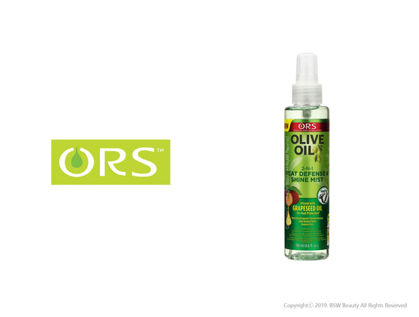 ORS LIVE OIL WITH GRAPESEED OIL  FOR HEAT PROTECTION 2-N-1 SHINE MEST & HEAT DEFENSE 4.6oz