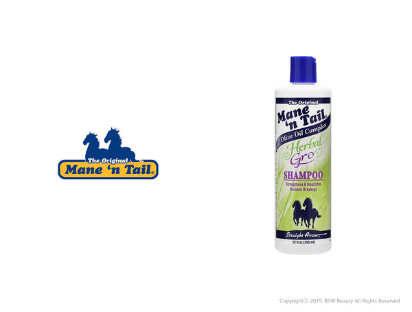 THE ORIGINAL MANE'N TAIL OLIVE OIL COMPLEX HERBAL-GRO SHAMPOO 12oz