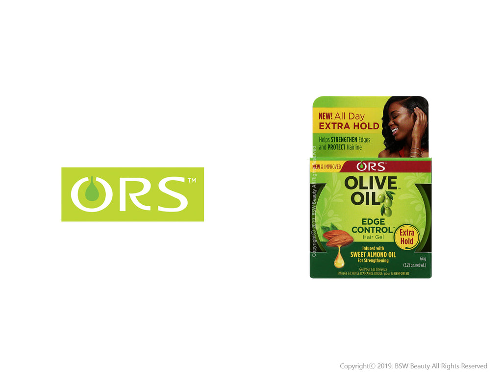 ORS OLIVE OIL EDGE CONTROL HAIR GEL EXTRA HOLD 2.25oz