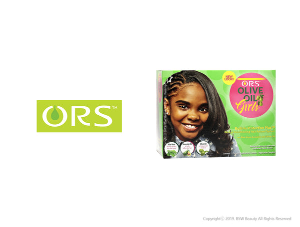 ORS OLIVE OIL GIRLS BUILT IN PROTECTION PLUS NO LYE CONDITIONING HAIR RELAXER SYSTEM