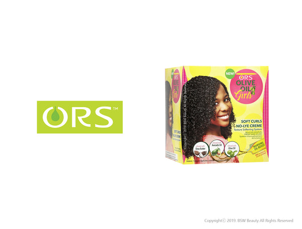 ORS OLIVE OIL GIRLS SOFT CURLS NO LYE CREME TEXTURE SOFTENING SYSTEM