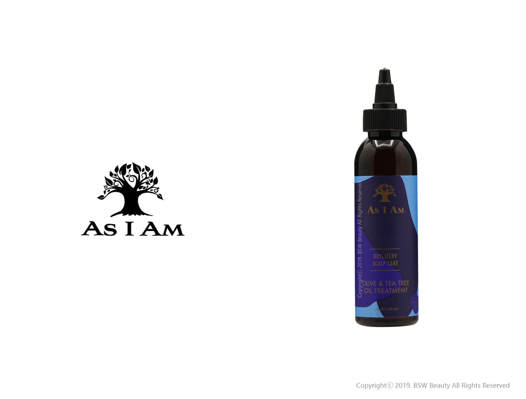 AS I AM DRY & ITCHY SCALP CARE OLIVE & TEA TREE OIL TREATMENT 4oz