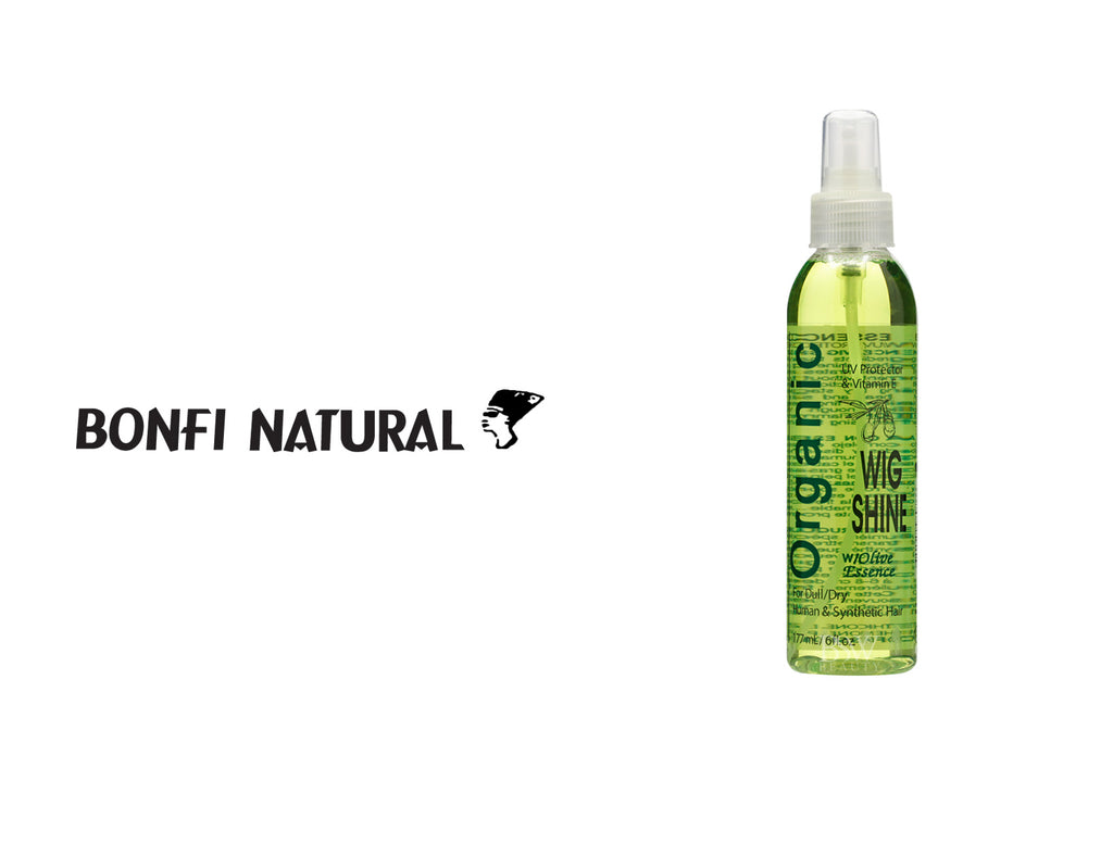 BONFI NATURAL ORGANIC WIG SHINE W/OLIVE  ESSENCE 6oz