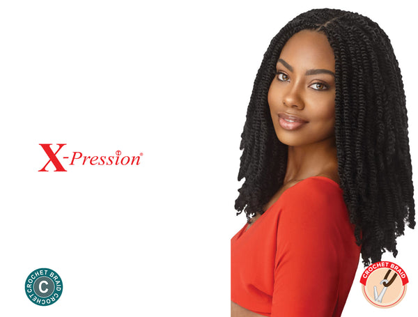 OUTRE X-PRESSION CROCHET BRAID TWISTED UP SPRINGY AFRO TWIST