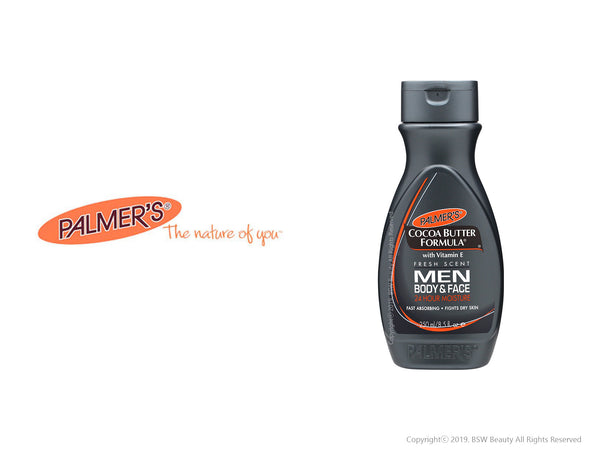 PALMER'S COCOA BUTTER FORMULA MEN BODY & FACE 24 HOUR MOISTURE