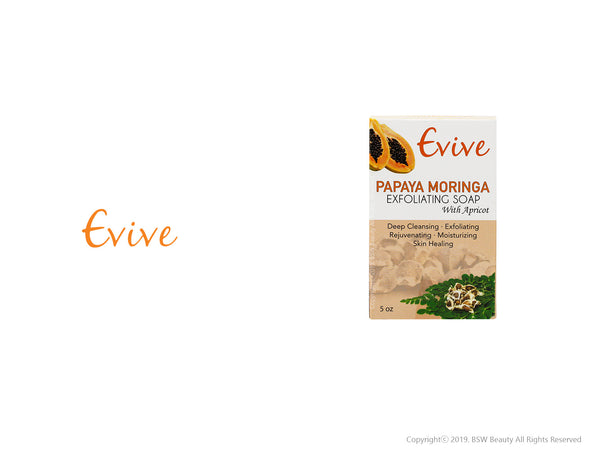EVIVE PAPAYA MORINGA EXFOLIATING BODY SOAP 5oz