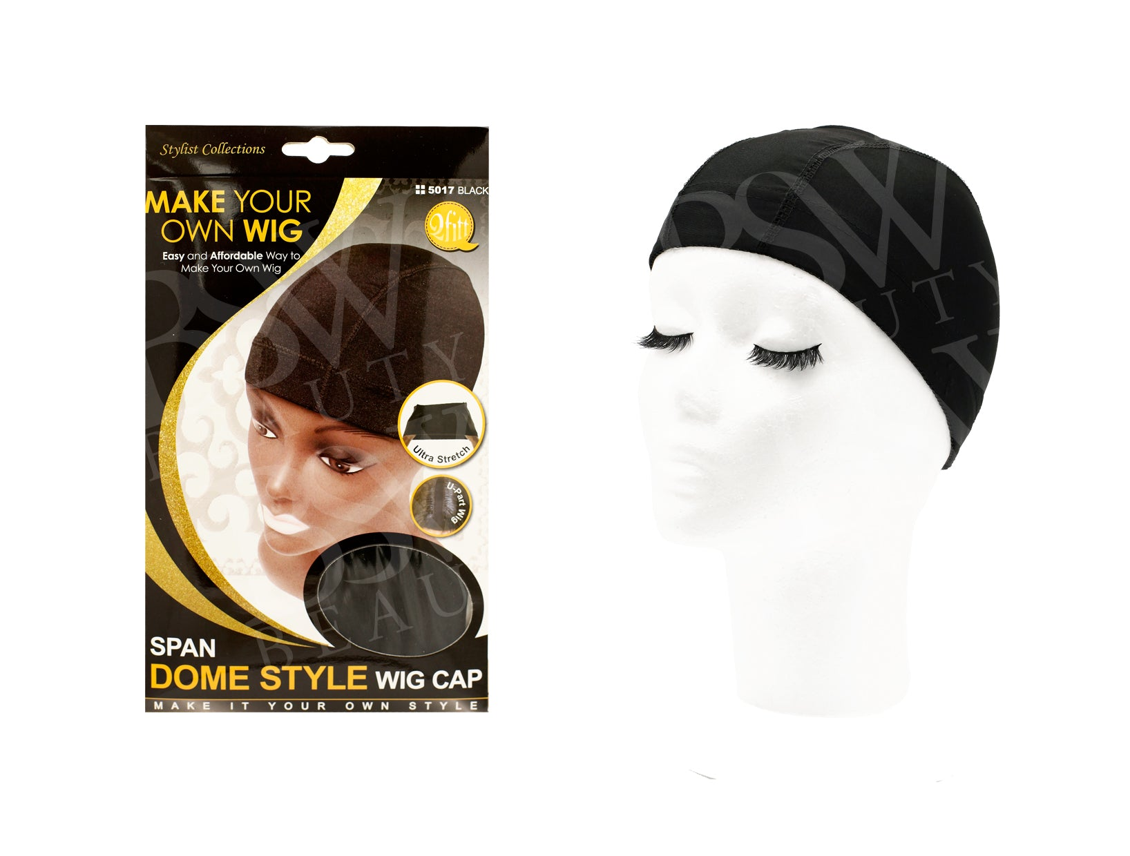 Qfitt Span Dome Style Wig Cap 5017 Black Bsw Beauty Canada