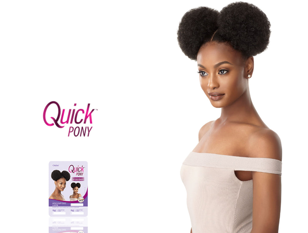 OUTRE QUICK PONY AFRO PUFF DUO LARGE