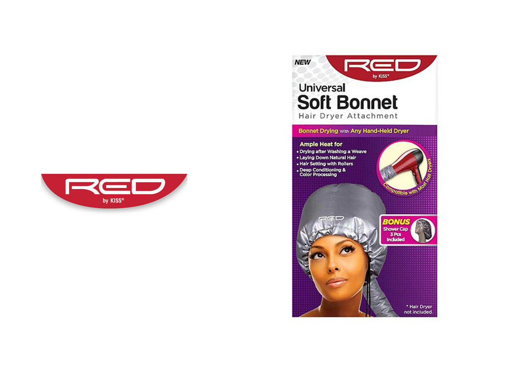 RED BY KISS UNIVERSAL SOFT BONNET HAIR DRYER ATTACHMENT #KBODAWM