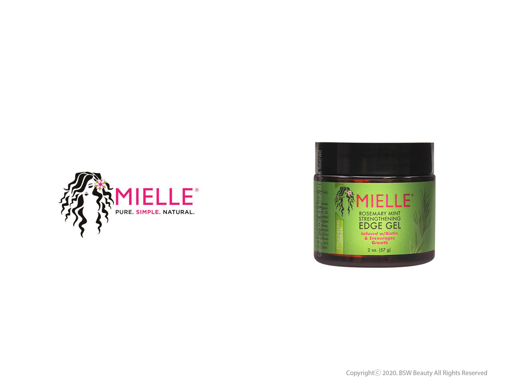 MIELLE ROSEMARY MINT STRENGTHENING EDGE GEL INFUSED W/ BIOTIN & ENCOURAGES GROWTH 2oz