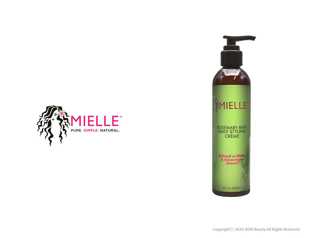 MIELLE ROSEMARY MINT DAILY STYLING CRÉME INFUSED W/ BIOTIN & ENCOURAGES GROWTH 8oz