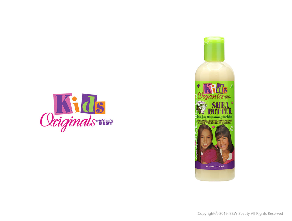 AFRICA'S BEST KIDS ORIGINALS SHEA BUTTER DETANGLING MOISTURIZING HAIR LOTION 12oz