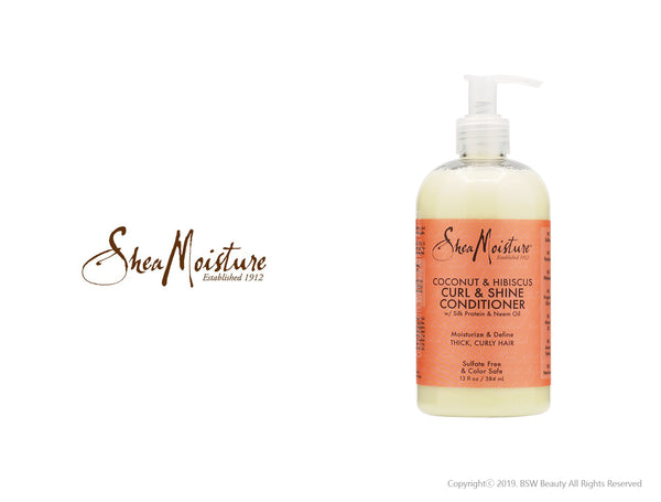 SHEA MOISTURE COCONUT & HIBISCUS CURL & SHINE CONDITIONER 13oz
