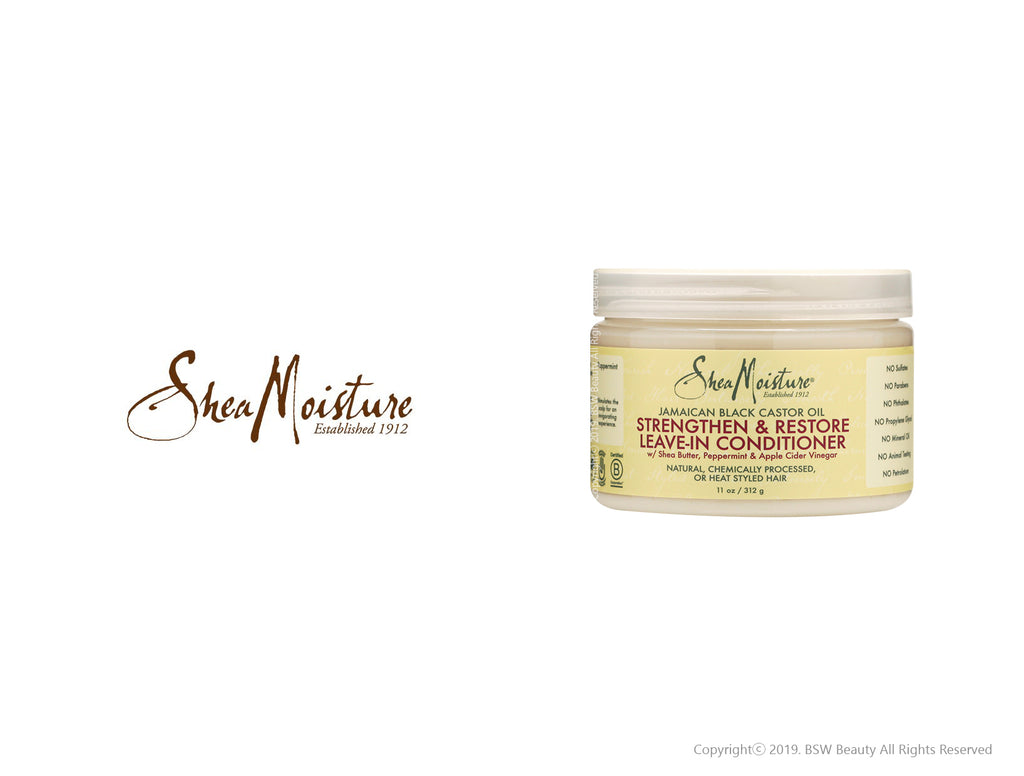 SHEA MOISTURE JAMAICAN BLACK CASTOR OIL STRENGTHEN&RESTORE LEAVE-IN CONDITIONER 11oz***