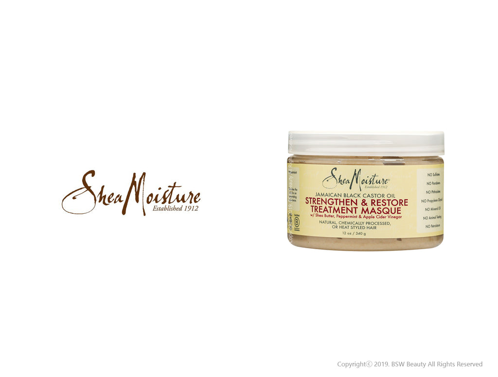 SHEA MOISTURE JAMAICAN BLACK CASTOR OIL STRENGTHEN&RESTORE TREATMENT MASQUE 12oz