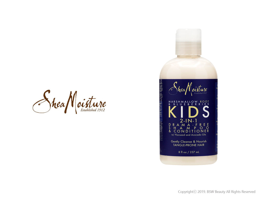 SHEA MOISTURE MARSHMALLOW ROOT & BLUEBERRIES KIDS 2-IN-1 DRAMA-FREE SHAMPOO & CONDITIONER 8oz