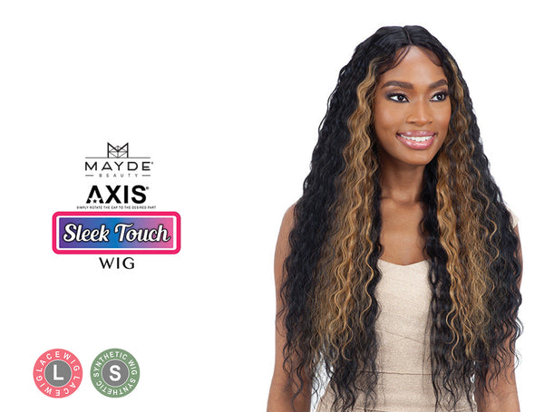 MAYDE BEAUTY SYNTHETIC AXIS LACE FRONT WIG SLEEK CRIMP