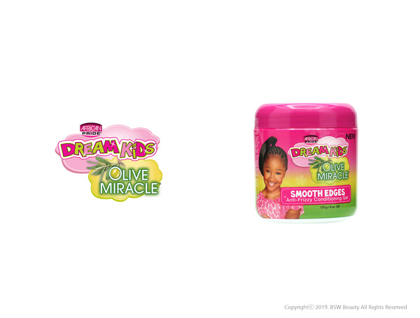 AFRICAN PRIDE DREAM KIDS OLIVE MIRACLE SMOOTH EDGES ANTI-FRIZZY CONDITIONING GEL 6oz