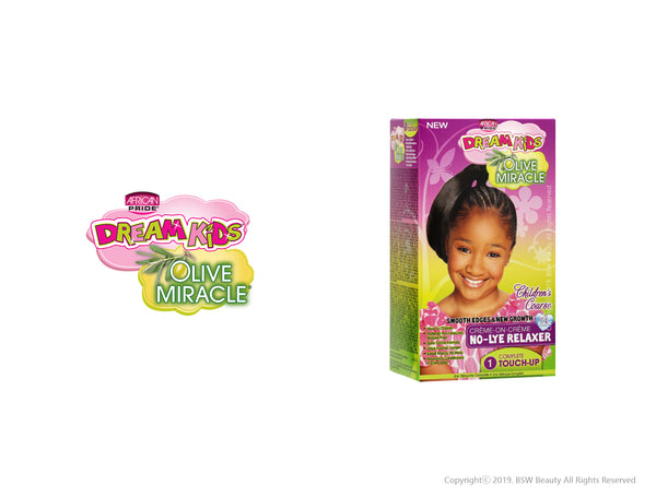 AFRICAN PRIDE DREAM KIDS OLIVE MIRACLE CREME ON CREME NO-LYE RELAXER TOUCH-UP KIT - CHILDREN'S COARSE