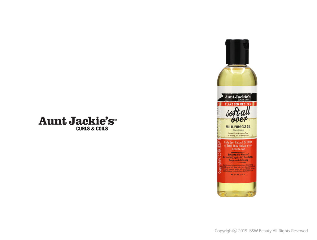 AUNT JACKIES SOFT ALL OVER MULTI-PURPOSE OIL 8oz