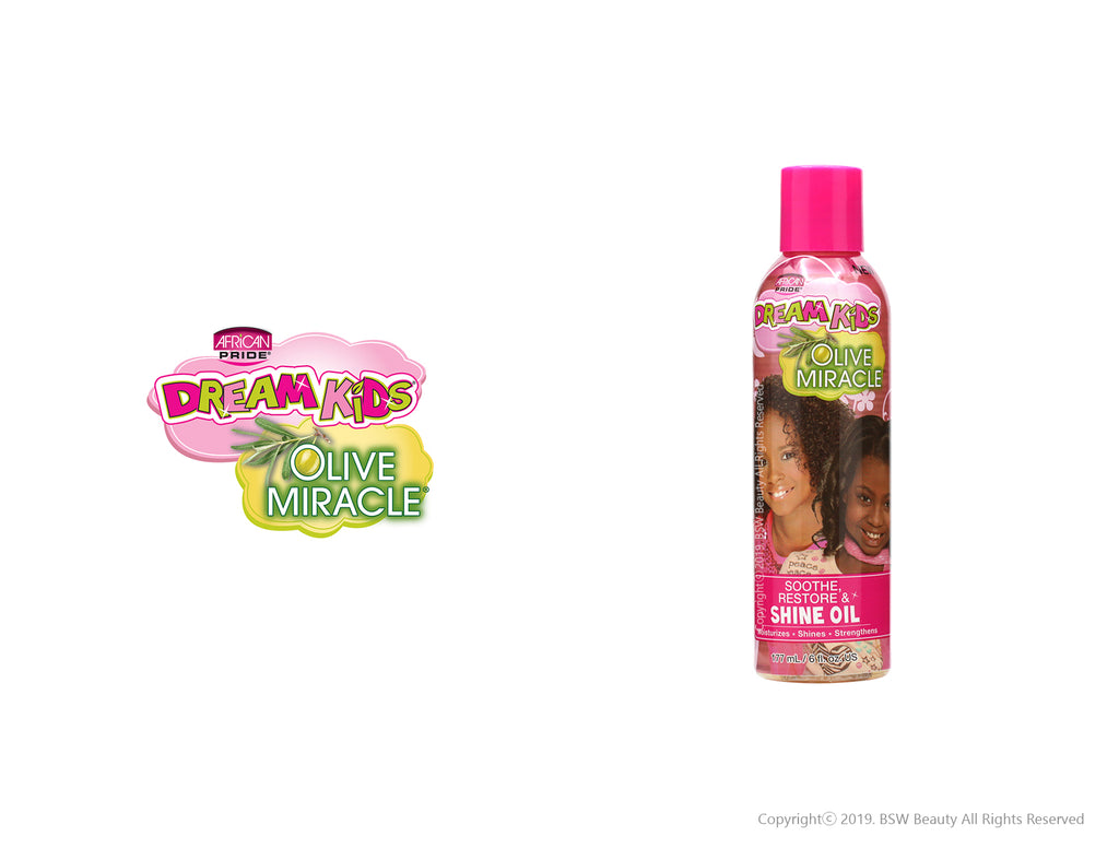 AFRICAN PRIDE DREAM KIDS OLIVE MIRACLE SOOTHE, RESTORE & SHINE OIL 6oz