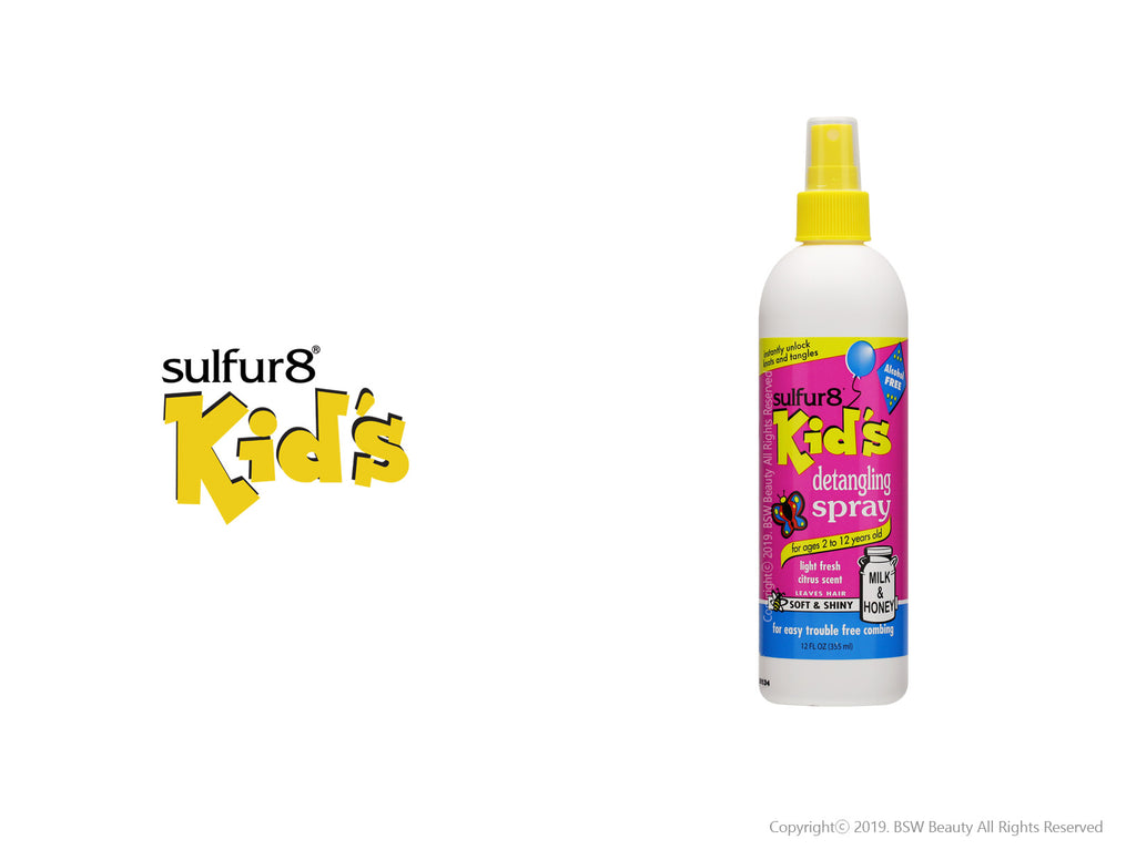 SULFUR8 KID'S SOFT & SHINY DETANGLING SPRAY 12oz