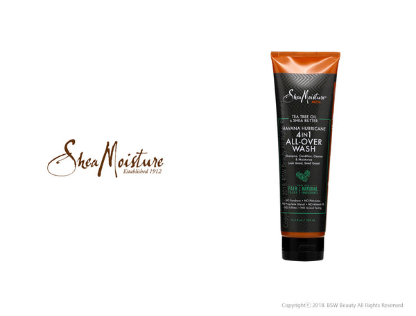 SHEA MOISTURE MEN TEA TREE OIL & SHEA BUTTER HAVANA HURRICANE 4IN1 ALL-OVER WASH 10.3oz