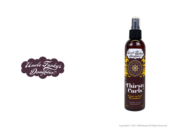 UNCLE FUNKY'S DAUGHTER THIRSTY CURLS LEAVE IN CURL REVITALIZER 8oz