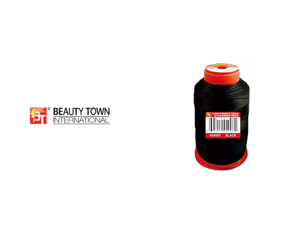 BEAUTY TOWN HIGH STRENGTH THREAD NYLON BONDED THREAD #04007 BLACK