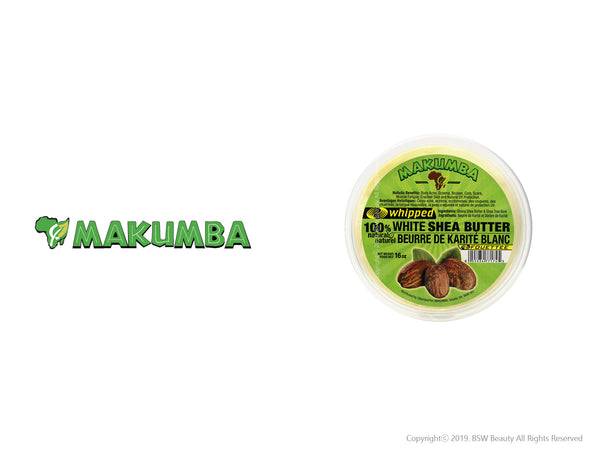 MAKUMBA WHIPPED 100% WHITE SHEA BUTTER 16oz