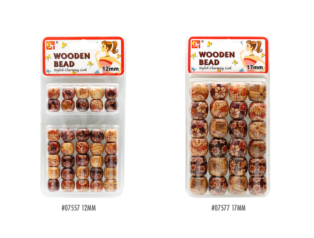 BEAUTY TOWN WOODEN BEAD