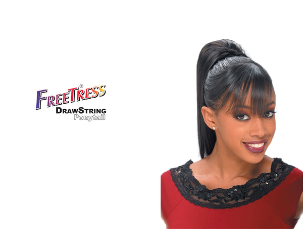 SHAKE N GO FREETRESS DRAWSTRING PONYTAIL YAKY STRAIGHT 12""
