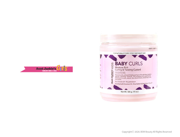 AUNT JACKIE'S GIRLS BABY GIRL CURLS MOISTURE-RICH CURLING & TWISTING CUSTARD 15oz