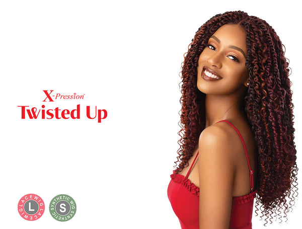 OUTRE X-PRESSION TWISTED UP LACE FRONT WIG - BOHO PASSION WATERWAVE 22""