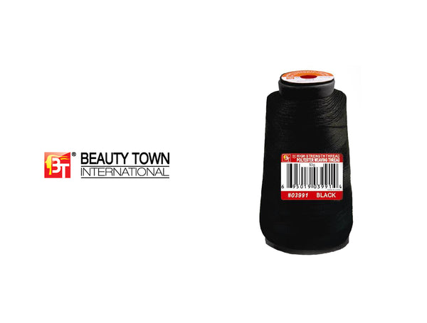 BEAUTY TOWN HIGH STRENGTH THREAD POLYESTER THREAD #03991 BLACK